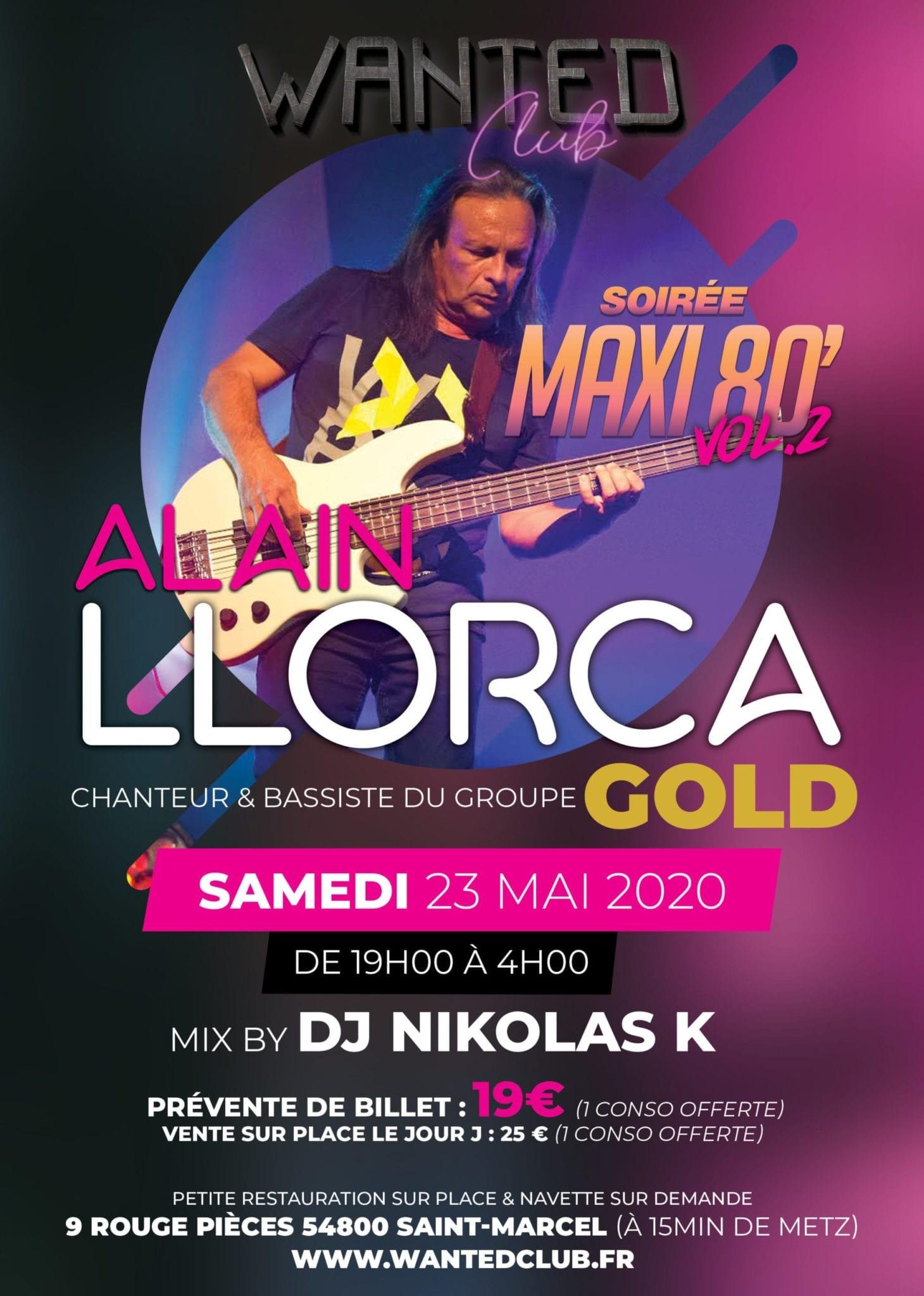 Soirée Maxi 80' vol.2 avec Alain LLORCA du groupe Gold